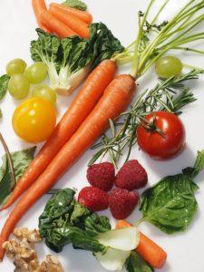 piezas de fruta y verdura